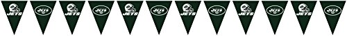 Creative Converting Officially Licensed NFL Plastic Flag Banner, 12', New York Jets