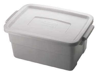 Rubbermaid Roughneck Tote 3 Gal. White (Storage Tote Roughneck)