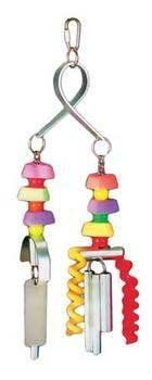 Prevue Pet Products BPV62155 Chime Time Bird Toy, Small/Medium, Typhoon