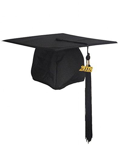 GraduationMall Unisex Adult Matte Graduation Cap with Tassel - Graduation Tassel Hat