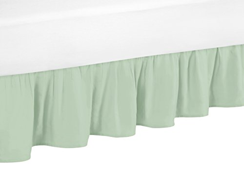 (Sweet Jojo Designs Mint Twin Bed Skirt for Girls Ava Childrens and Teen Bedding)