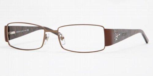 Versace Ve1135b Eyeglasses 1061 Brown Demo Lens 53 16 135