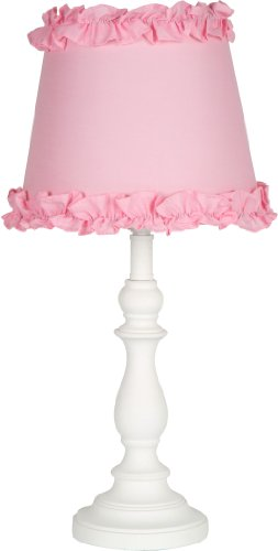 Princess 'Girls Table or Desk Lamp with Pink Ruffle (Princess Lamp)