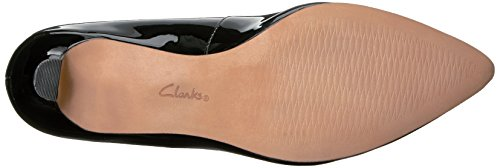Clarks Womens Crewso Wick Dress Pump Nero Vernice Sintetica