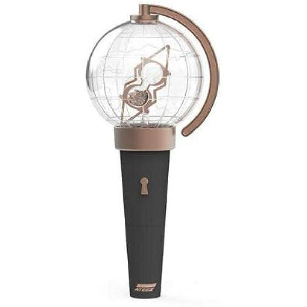 Amazon Com Kq Entertainment Ateez Official Light Stick Atiny Fanlight Extra Photocards Set Home Kitchen