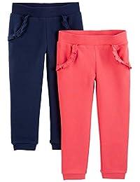 Simple Joys by Carter's - Pantalones de Forro Polar para niña (2 Unidades)