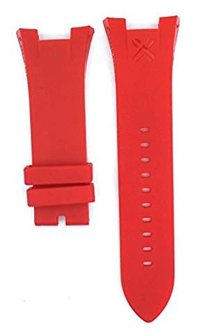 Red Rubber Diver Watch Strap Band For Ar. Exchange (Watchband Armani Exchange)