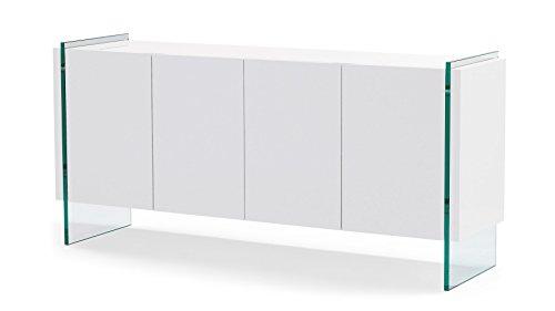 Cheap Zuri Furniture Art White High Gloss Cabinet