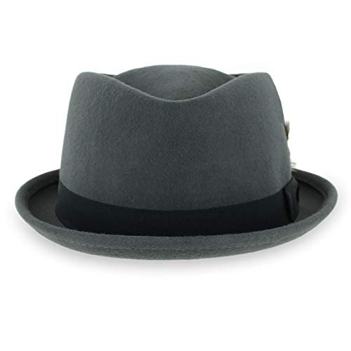 Belfry Crushable Porkpie Fedora Men's Vintage Style Diamond