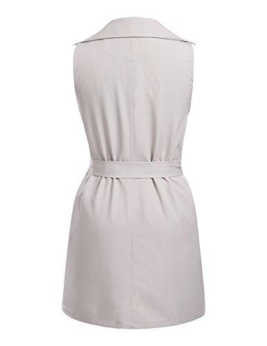 Beyove Manches Longues Cardigan Veste Blazer Veste Gilet Féminin Avec Ceinture #grey