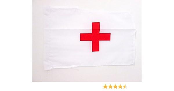 AZ FLAG Bandera de la Cruz ROJA 45x30cm - BANDERINA HUMANITARIA 30 x 45 cm cordeles: Amazon.es: Hogar