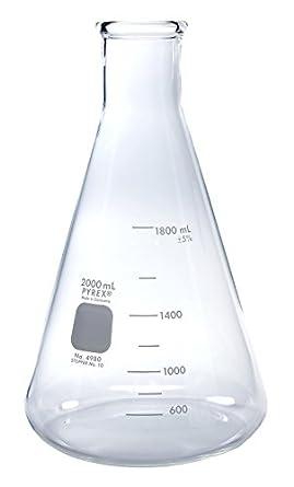 pyrex 2l narrow mouth erlenmeyer flasks with heavy duty rim 1 pk