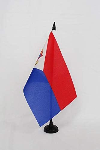 AZ FLAG Bandera de Mesa de Sint Maarten 21x14cm - BANDERINA de ...