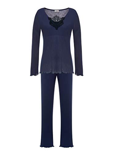 Azul Pijama Marino Mujer Para Selmark CA17q1