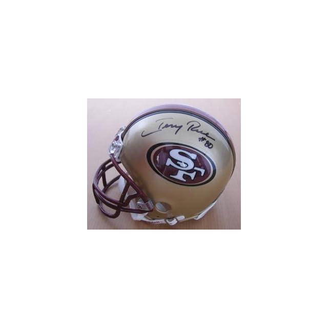 Jerry Rice San Francisco 49ers Signed Mini Helmet