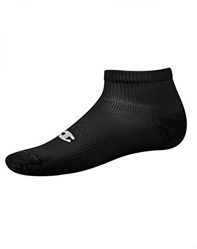 Champion Men's Big & Tall 6-Pack Quarter Socks Black