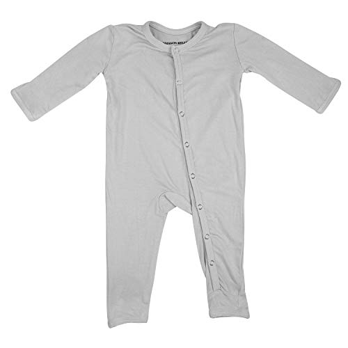ADDISON BELLE Premium Knit One Piece Baby Romper Ultra Soft & Breathable - 0-3 Month Size (Grey)