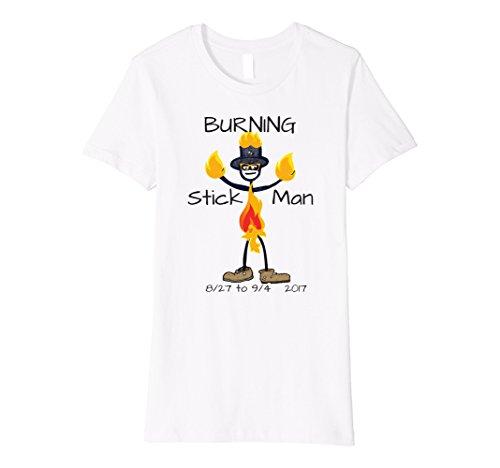 Womens Burning Stick Man Figure in Hot Desert Fire Flames 2017 XL...