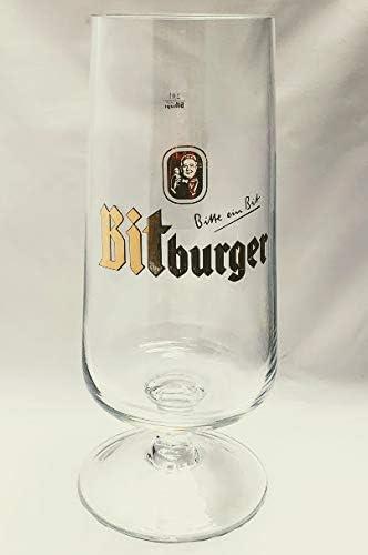 Vasos de cerveza Bitburger de 2,0 l / vasos de cerveza / XXL / copa / tulipanes / oro / Gastro / bar / decoración / regalo / vasos de coleccionista