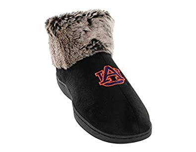 ed38898c4 AUB14-1 - Auburn Tigers Faux Sheepskin Furry Top Slippers - Small