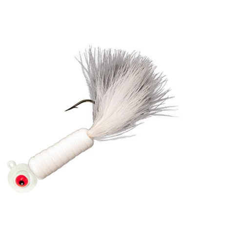 Lindy Fuzz-E Grub Jigs - White - 2 in - 1/8 oz