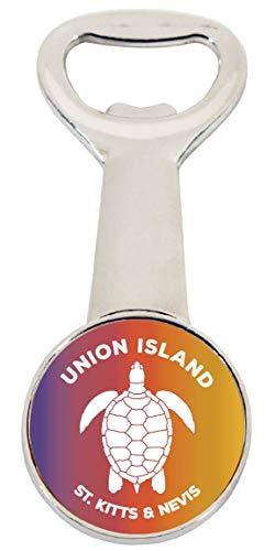 (Union Island St Vincent and the Grenadines Rainbow Turtle Design Souvenir Magnetic Bottle Opener)