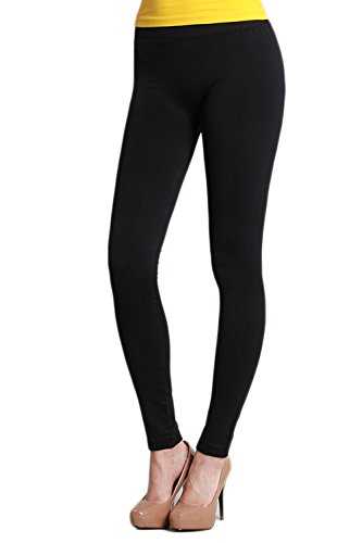 Nikibiki Ankle Length Seamless Smooth Women/s Leggings Made in The USA ,Black,One Size