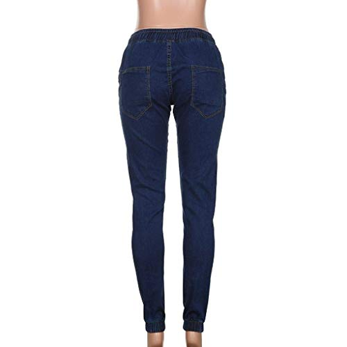 Nero Giovane Dunkelblau Stretch Denim Skinny Uomo Lunghi Vintage Pantaloni In Moda twgq4W1