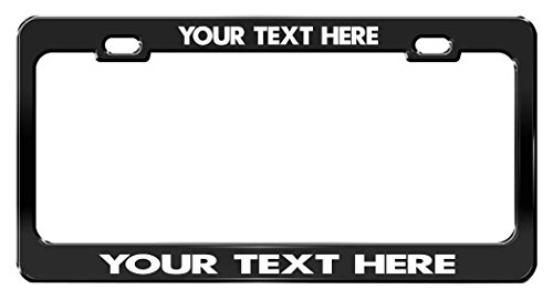 CUSTOM PERSONALIZED, Black Metal License Plate Frame, White Writing, A Bug's Life