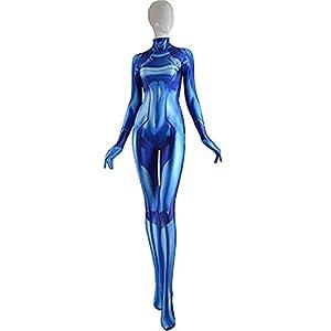 Zp Samus Zero Aran Cosplay Costume 3d Printing Spandex Lycra Bodysuit Suit Jumpsuits