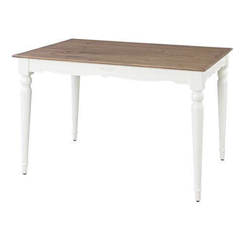 アンティーク調ダイニングテーブル リビングテーブル 【長方形 幅120cm】 木製 『ビッキー』 〔インテリア家具 ディスプレイ家具 什器〕 B0778GJ7S9ダイニングテーブル 幅120cm