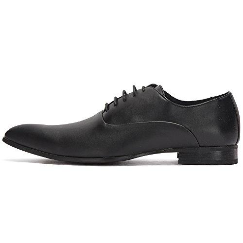 à Noir Bout Derbies Shoes Perm Pointu Reservoir Homme 6qEaw80