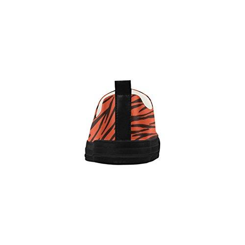 D-story Strisce Zebra Arancio Personalizzate Apus Slip On Scarpe In Microfibra Da Donna (modello 021)
