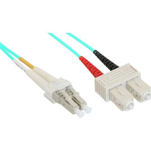 InLine® 88642O LWL Duplex Cable LC Male to SC Male OM3 / 2 m