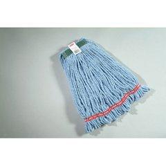 - Rubbermaid A212BLU Web Foot Wet Mop Head, Shrinkless, Cotton/Synthetic, Blue, Medium, 6/Carton