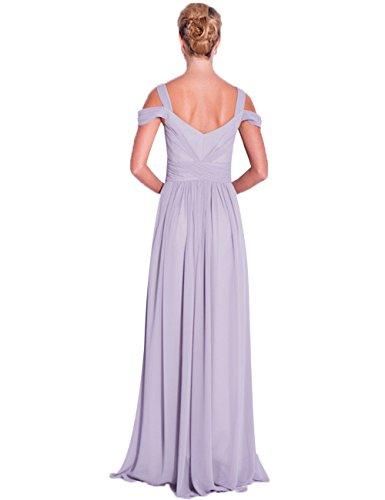 Lavendel Erosebridal Bügel Doppel Tropfen Brautjungfernkleider Chiffon Schatz HYHRxq