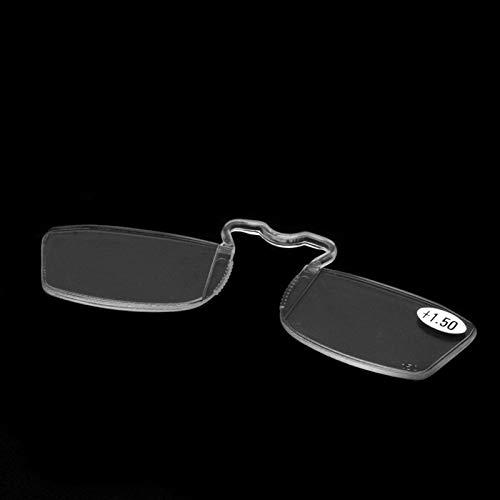 chuwa Fashion Clip On Reading Glasses Older Mirror Nose Clip Mini Small Eyeglasses Blue Light Blocking Eye Glasses (Big Fashion Lesebrille)