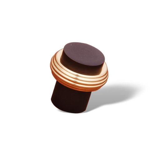 Rk International - Oil Rubbed & Brass Rki Solid Swirl Rod Knob (Rkick4214Brb) (Knob Swirl Solid Bronze)