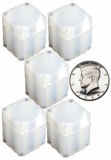 5 CoinSafe HALF DOLLAR Square Coin Tube Coin Supplies