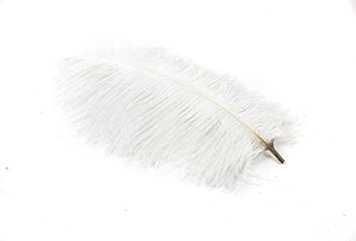 24 Pieces White Ostrich Feather Plumes 6