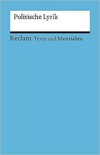 Politische Lyrik Texte Und Materialien Für Den Unterricht