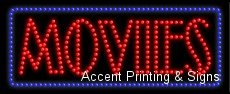Movies LED Sign (High Impact, Energy Efficient)