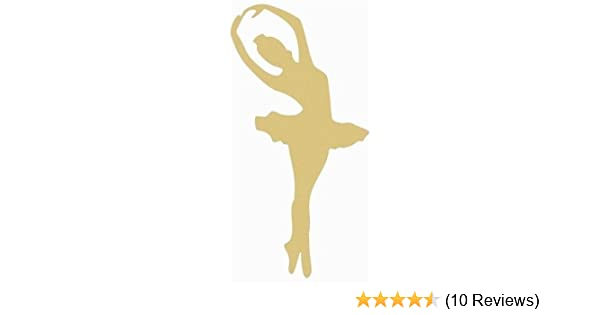 Ballerina Cutout Unfinished Wood Door Hanger MDF Shape Canvas Style 4