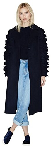 Anthropologie Ruffled Sleeve Coat by The Fifth Label $168 Sz S - NWT -
