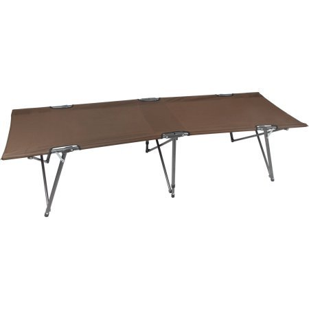 Ozark Trail Basic Comfort Folding Cot in Brown, 250lbs Weight Capacity, Durable Steel Powder-coated Frame, Quick Set-up, With Carry Bag, Trasportable, Lighweight, Outdoor