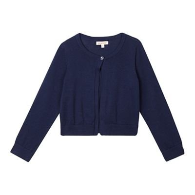 bluezoo Kids Girls' Navy Knitted Cardigan