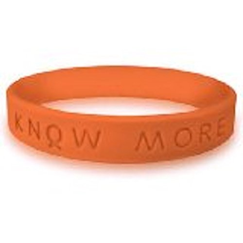 KNOW MORE Silicone / Rubber Awareness Wristband Bracelet (Orchid) ()