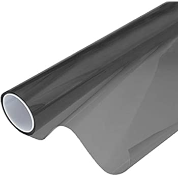 VViViD Smoke Black Adhesive Headlight Wrap Wet Tinting Vinyl Roll (17.9