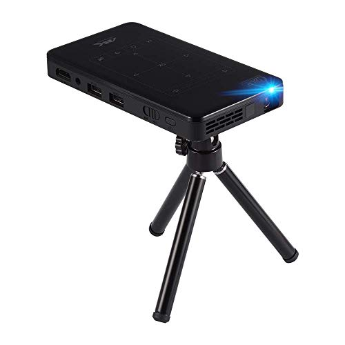 """KURT Portable Projector, 4K HD Smart LED Projector P09 Video Sharing Android 6.0 with 200"""" Display for iOS Android Support Wireless with The Same Screen from KURT"""