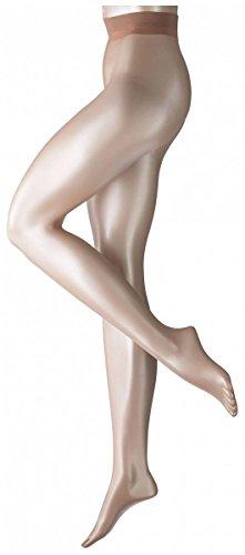 Falke Womens Shelina 12 Denier Ultra-Transparent Shimmer Tights - Powder - Medium